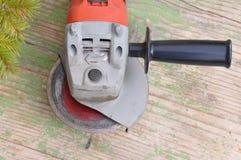 Старый используемый пылевоздушный точильщик Стоковые Изображения RF