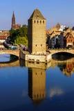 Старый исторический центр страсбурга Башни и briges крепости Стоковые Изображения