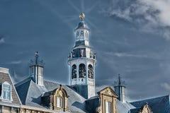Старый исторический шпиль церков Стоковое фото RF