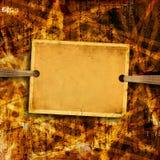 Старый лист бумаги для объявлений и рекламы Стоковые Фото