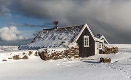 Старый исландский дом Стоковая Фотография RF