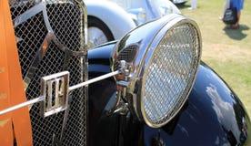 Старый итальянский headlamp автомобиля Стоковые Фото