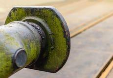 Старый и выдержанный бампер фуры поезда от задней части Стоковые Фото