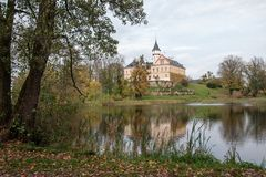 Старый и исторический замок Radun в чехии Стоковое фото RF