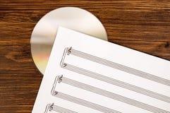 Старый и новая технология в музыке Стоковые Изображения RF