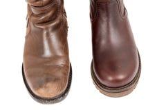 Старый и новый ботинок Стоковая Фотография RF