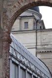 Старый и новый – деталь архитектуры Стоковое Фото