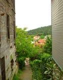 Старый и новый дом, турецкий остров Стоковые Изображения