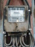 Старый и пылевоздушный метр ваттчаса Стоковое Изображение RF