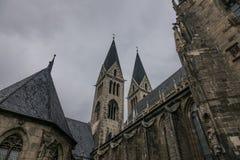 Старый и старый собор в Halberstadt, Германии Стоковое фото RF