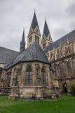 Старый и старый собор в Halberstadt, Германии Стоковые Изображения RF