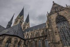 Старый и старый собор в Halberstadt, Германии Стоковое Изображение RF