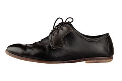 Старый и элегантный черный ботинок Стоковая Фотография RF