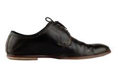 Старый и элегантный черный ботинок Стоковые Изображения RF