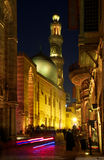 Старый Каир к ноча Стоковое фото RF