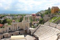 Старый каменный амфитеатр в болгарине Стоковое Фото