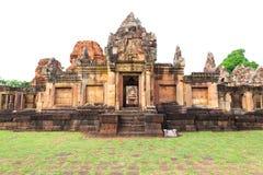 Старый каменный замок в севере к востоку от Таиланда стоковые изображения