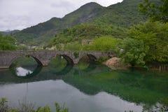 Старый каменный мост Стоковые Изображения RF