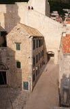 Старый каменный дом в Дубровнике Стоковая Фотография RF