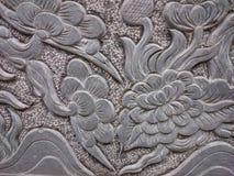 Старый каменный сброс в буддийском виске в Вьетнаме, Юго-Восточной Азии Стоковая Фотография RF