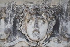Старый камень портрета в виске Аполлона, Didyma, Турции, 2014 Стоковая Фотография RF