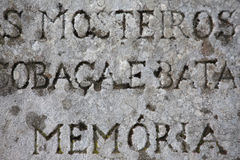 Старый камень с надписями Стоковое Изображение RF