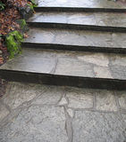 старый камень шагов Стоковое фото RF