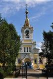 Старый камень, яркая церковь, висок Стоковое фото RF
