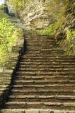 старый камень stairway Стоковое Изображение