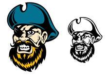 Старый капитан пирата Стоковые Фотографии RF