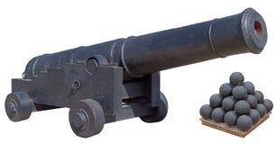 Старый карамболь корабля на белизне стоковая фотография rf