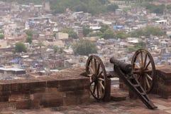 Старый карамболь на форте Mehrangarh, Джодхпур, Индия Стоковое Изображение