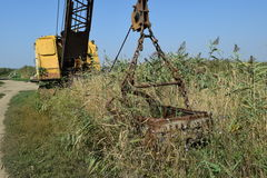 Старый карьер около dragline Стоковая Фотография RF