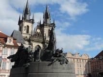 Старый квадрат в Праге Стоковое Изображение RF