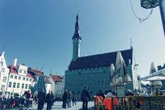 Старый квадрат Таллина Стоковые Изображения RF