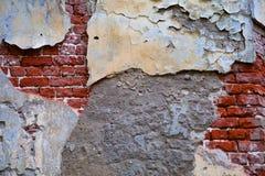 Старый кирпич стены трескает предпосылку искусства ретро Стоковое фото RF