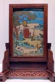 Старый китайский деревянный экран стоковая фотография rf