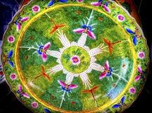 Старый китайский керамический блошинный Пекин Китай Panjuan плиты стоковое изображение rf