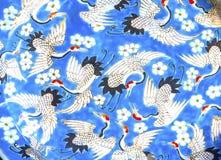 Старый китайский керамический блошинный Пекин c Panjuan плиты кранов стоковое изображение rf