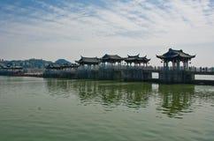 Старый китайский мост Стоковые Изображения