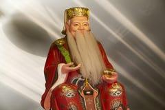 Старый китайский мудрый человек стоковое изображение