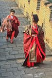 Старый китайский чиновник Mutianyu, провинция Хэбэя/Китай - октябрь Стоковое Фото