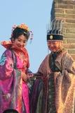 Старый китайский чиновник Mutianyu, провинция Хэбэя/Китай - октябрь Стоковые Фото
