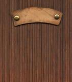 Старый кожаный ярлык Стоковое фото RF