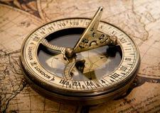 Старый компас Стоковые Фотографии RF