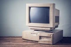 Старый компьютер, год сбора винограда Стоковые Изображения RF