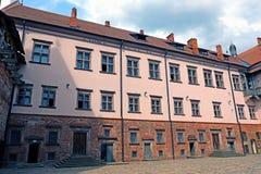 Старый комплекс замка Mir в Беларуси Стоковая Фотография RF