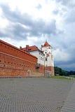 Старый комплекс замка Mir в Беларуси Стоковое Изображение