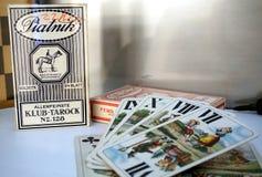 Старый комплект карточек Стоковое Изображение