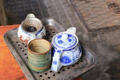 Старый комплект чая дорогой Стоковое Фото